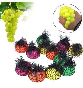 5cm Cute Anti Stress Face Reliever Grape Ball Autism Mood Squeeze Relief Healthy Toy Funny Gadget Vent Decompression Toys Free Shipping