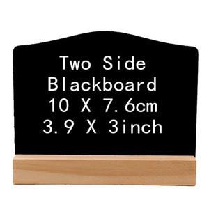 Rustic Table Number Mini Chalkboard Sign with Wood Stand 3.9x3inch Small Wooden Sign Buffet Display Plaque Novelty Décor W9703