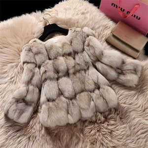 Wholesale Natural Fur Coat For Women Winter Jacket Fashion Short Silm Outerwear Luxury Thick Female Real Fur Coat Abrigos Mujer M52