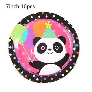 Cartoon Panda Theme Happy Birthday Party Cup Cake Topper Popcorn Box Plate Tablecloth set Christmas Wedding For Home decoration