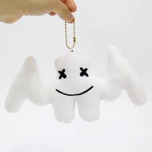 Wholesale cosplay DJ Marshmello keychain Party Plush Toy Collectibles Stuffed Gift Doll Plush Toy Pendant keychain LJJK1906