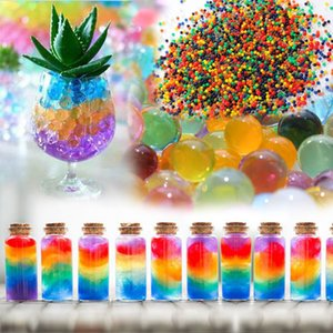 100Pcs set Crystal Mud Hydrogel Orbeez Crystal Soil Outdoor Water Beads Vase Soil Grow Magic Balls Kid's Toy Home Decorati on Sale