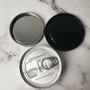 Wholesale 3 G Tin Cans Press Sealed Sealing Lid Cover for Dry Herb Flowers Pressed Custom Label Smartbud Smart BUD Carts Organic Cali top
