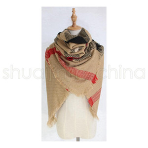 Wholesale women neck square scarf for sale - Group buy Woman Plaid Blankets Scarves Girls Lattice Shawl Winter Grid Wraps Classic Square Tassel Check Neck Scarf Fashion Neckerchief LJJA3561