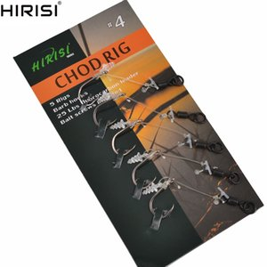 Wholesale 10 Carp Fishing Hooks Ready Tied Chod Rigs Fishing Hook Link Hair Rigs Swivels For Pop Ups Size