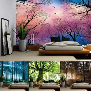 3D Psychedelic Forest Tapestry Fairy Garden Hippie Hanging Wall Decorative Livingroom Wall Art Tapestry Decor 150x200cm 12 kinds of styles on Sale