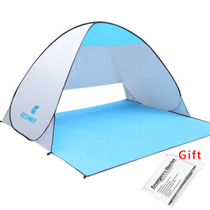 Wholesale KEUMER Beach Tent Pop Up Open Camping Tent Fishing Hiking Outdoor Automatic Instant Portable cm Anti UV Shelter