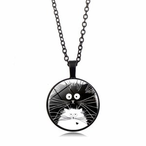 Wholesale 2019 New Pattern Pendant Necklace Black Hedgehog Time Gem Necklace European and American New Pendant Necklace Long Sweater Chain