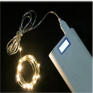 corda flexível de leds venda por atacado-USB LED Light Garland M M M LEDS fio de cobre flexível lâmpada livro Luzes do feriado do Natal Decor Cadeia Estante Decoração