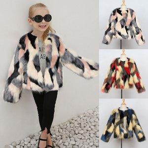 Kids Girl Warm Coat Toddler Winter Faux Fur Jacket Thick Outwear long sleeve Clothes Baby Autumn fashion Coat on Sale