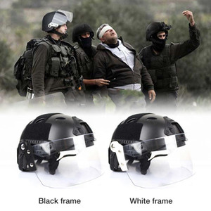 Wholesale New High quality Outdoor Transparent Windproof Durable Lens Anti Glare Lenses For Helmet For Most Rail Helmets Support