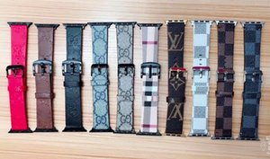 Wholesale For Apple Watch Watchbands Top Designer Brand Leather Band for iwatch mm mm mm mm Size Bands Famous Brand Designer Watch Band