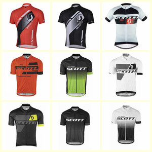 Wholesale SCOTT team Cycling Short Sleeves jersey quick drying bicycle clothing men s breathable outdoor sports free delivery U52903