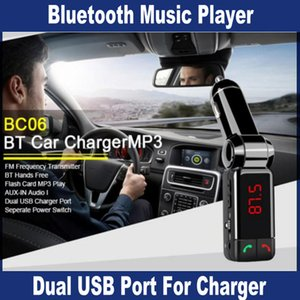 Wholesale bluetooth for aux port for sale - Group buy BC06 bluetooth car charger BT car charger MP3 BC06 mp3 MP4 player mini dual port AUX FM transmitter