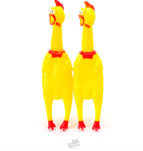 Wholesale 200pcs Cute Yellow Chicken Shape Sound Pet Toy Dog Cat Non toxi Rubber Chewing Toys Drop Shipping Fast Delivery Time