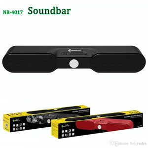 Wholesale usb soundbar resale online - Powerful W dual speaker bluetooth wireless soundbar high definition stereo FM loudspeaker mp3 TF card player with retail package