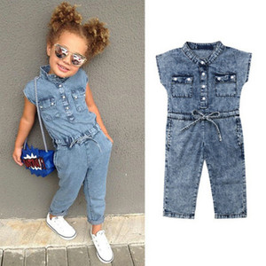 Wholesale New Style Spring Summer Toddler Rompers Baby Denim Bodysuit Jumpsuit Outfits Clothes For Kids Girl Boys