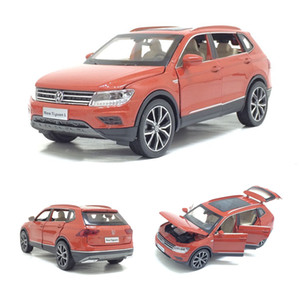 1:32 Scale FAW Original Factory Diecast SUV Car Model For TheVolks wagen Tiguan L Collection Model Pull Back Alloy Metal Toys