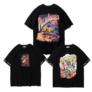Wholesale Hip Hop Palm Angels T Shirts Streetwear d Printing Painting Palm Angels T shirts ss New Summer Fashion Palm Angels Too Tees Y19072001