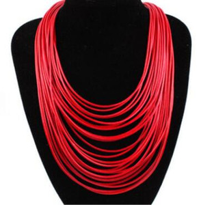 Wholesale Hot Fashion Women Multicolor Necklace Multilayer Rope Bohemia Statement Jewelry Long Necklace for Women