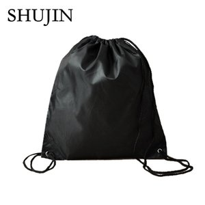 Wholesale 1Shujin Drawstring Bag Thick Waterproof Shoulder Beam Shoes String Storage Bags Outdoor Sports Riding Backpack