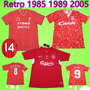 RUSH Gerrard 1985 1986 RETRO soccer jersey 2005 2006 Crouch Morientes 85 86 04 05 89 91 football shirt 1989 1991 classic vintage