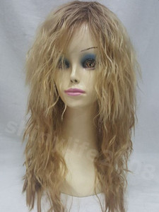 Free Shipping Wig long brown and blonde mixed wig Cosplay wavy curly hair new fashion
