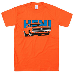 Wholesale Dodge Charger Hemi Classic Car Design Retro American Muscle Car T Shirt Gift