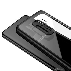 Wholesale Crystal Clear HD Transparent Case PC Back Cover with Soft Silicone TPU Bumper Anti Fingerprints Anti Scratch for Galaxy S9 iPhone X Plus
