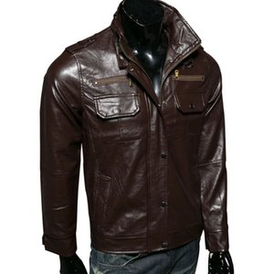 Wholesale Men s Real Leather Motorcycle jacket Dropshipping hot sale winter Men Warm Genuine jackets fashion s long sleeves top coat