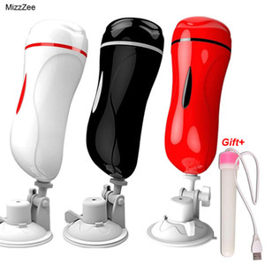 Mizzzee Dual Channel Vagina Real Pussy Vibrator Erotic Toys For Men Masturbator For Man Oral Sex Machine Vibrador Hombre Blowjob Y19052802
