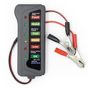 Wholesale 6 V Auto Car Digital Battery Tester Alternator LED Light for Cars Vehicle V Car Battery Tester Diagnostic Tool