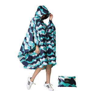 Wholesale Multifunctional colorful unisex Outdoor Travel Waterproof Rain coat Poncho Backpack rain cover cycling in heavy rain