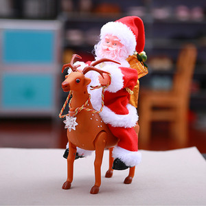 Wholesale Baby Kids Toys Christmas Electric Santa Claus Singing Dancing Santa Claus Doll Toy New Year Gifts Children Toys Christmas Decoration Gifts