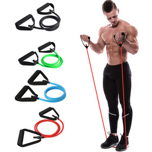 Wholesale New style gum for fitness rubber Elastic Pull Rope Yoga Resistance Bands muscle bodybuilding Stretch Exercise Tubes fitness gum