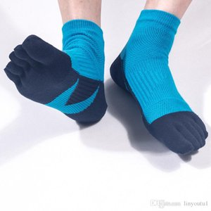 Wholesale Men s Pair Men Mesh Sports Running Five Finger Toe Socks Casual Cotton Solid Sock Hot Sale Comfortable