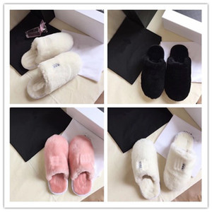 Wholesale Designer Women Men Furry Slippers Unisex Fur Sandals Winter Warm Boots Shoes Wools House Boots Indoor Outdoor Warm Fur SlipperC72907