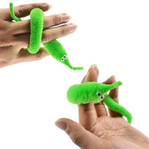 Wholesale 1pc Magic Twisty Worm Wiggle Moving Sea Horse Kids Trick Toy Caterpillar Magic Worm Twisty Toys Stuffed Plush Animal Toy