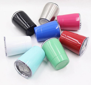 Wholesale coffee travel mug resale online - 8 oz children drinking cups double stainless steel milk tumbler travel coffee beer mug special gift for students support DIY for school A10