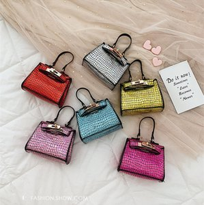 Wholesale Baby Sequin Bags Kids Princess glitter Purses Fashion PU Shoulder Bags Girls All-match Cross-body Bags Children designer Handbags LE359-U