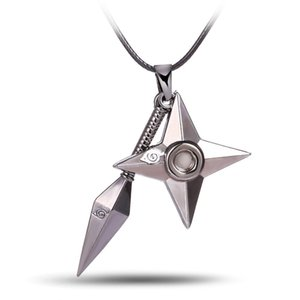 Wholesale HSIC Hot Anime Naruto shuriken Ninjia Pendant Necklace High Quality non fading environmental Jewelry wonderful gift