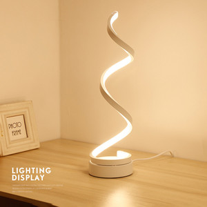 BRELONG spiral LED table lamp, curved LED table lamp warm white light, smart acrylic material, very suitable 10162