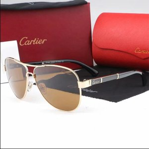 Wholesale new HOT Fashion Sunglasses for Men CARTIER Women metal frame Mirror polaroid Lenses driver Sun Glasses with Original box
