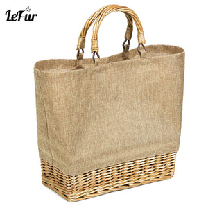 Lefur 2019 Straw Pvc Waterproof Bag Women Rattan Handbag Summer Beach Bag For Women Leisure Ladies Pack Bolsa Feminina J190521 on Sale