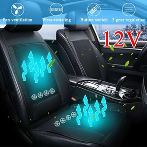 Wholesale 8 Built in Fan D V Cooling Car Seat Cushion Cover Air Ventilated Fan Conditioned Cooler Pad Speeds Car Seat Cushion Cover