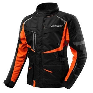 Wholesale SCOYCO Motorcycle Clothing Protective Jacket Waterproof Warm Winter Motorcycle Vest Grid Material Elbow Shoulder Back Protector
