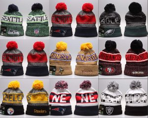 Wholesale 2019 New Arrival Beanies Hats American Football teams Beanies Sports winter knit caps Beanie Skullies Knitted Hats drop shippping