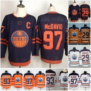 Wholesale Edmonton Oilers Third Jersey Connor McDavid Wayne Gretzky Leon Draisaitl Ryan Nugent Hopkins Hockey Jersey Blue Orange