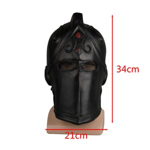 Game Fortnites Mask Cosplay Black Knight Legend Orange Skin Masks Latex Helmet Halloween Party Prop Dropshipping