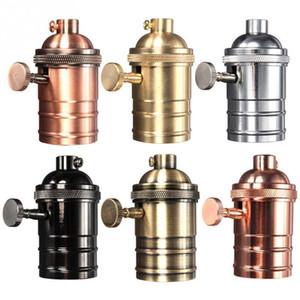 Vintage Edison Lamp Socket E26 e27 Screw Bulb Base Aluminum Lamp Holder Industrial Retro Pendant Fittings Lampholders Fixture